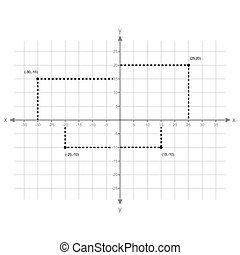 Graphing X Y Points vector - image of x and y axis with...