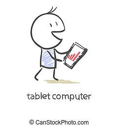 graphique, écran, tablette