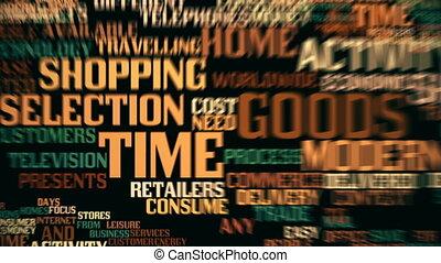 graphique, achats, seamless, mouvement, temps, boucle
