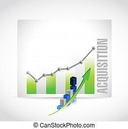 graphique, acquisition, illustration affaires