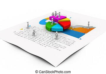 graphique, affaires gens, diagramme