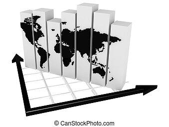 graphique, affaires globales