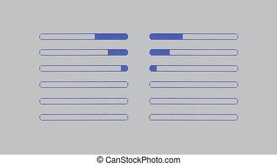 graphique, agrafe, analyse, musique, equalisers, audio