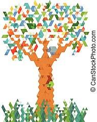 graphique, arbre, pixel
