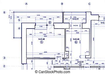 graphique, architectural, technique, projet, fond, plan