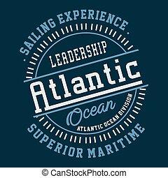 graphique, atlantique, direction, océan