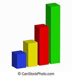 graphique, barre, business