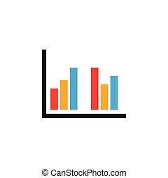 graphique, barre, coloré, diagramme, conception, gabarit, icône