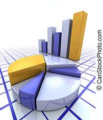 graphique barre, et, graphique circulaire