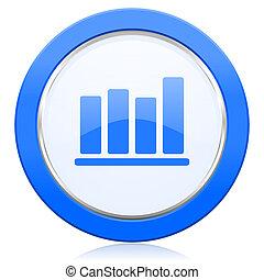 graphique barre, icône