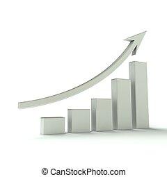 graphique, blanc, barre, business