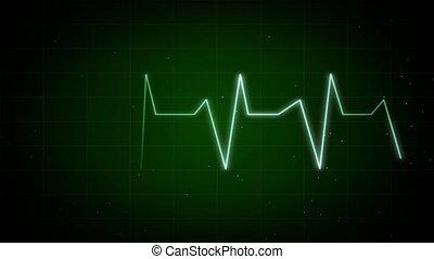 graphique, boucle, pulsation, moniteur, fond, rythme, ekg, ...