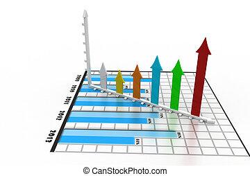 graphique, business, flèche
