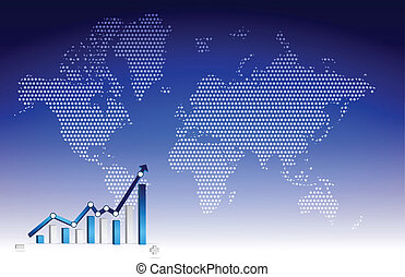 graphique, business, fond