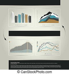 graphique, business, layout.