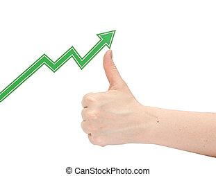 graphique, business, main