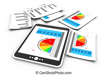 graphique, business, rapports