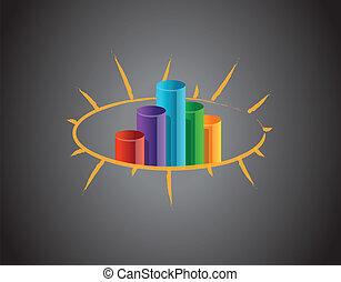 graphique, business, tableau noir