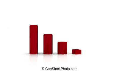 graphique, bussines, -, crise, 3d