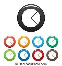 graphique, cercle, ensemble, collection, icônes