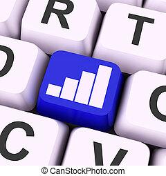 graphique, clã©, moyens, données, analyse, ou, statistiques