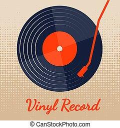 graphique, classique, enregistrement, vecteur, musique, vinyle, fond