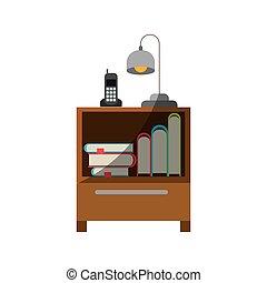graphique, coloré, collection, téléphone sans fil, lampe,...
