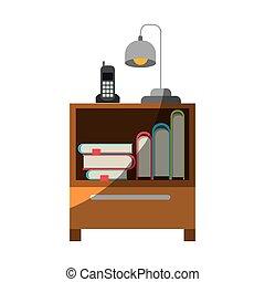 graphique, coloré, empilement, téléphone sans fil, lampe,...