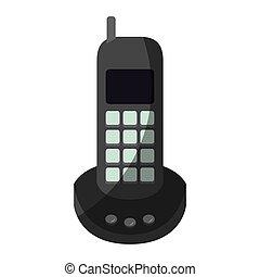 graphique, coloré, téléphone sans fil, sans, moitié, ombre,...