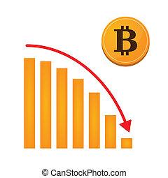 graphique, concept, bitcoin