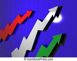 graphique, concept, business