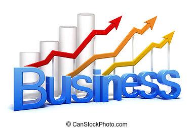 graphique, concept, isolé, business