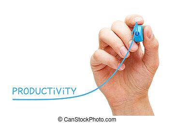 graphique, concept, productivité, augmenté, business