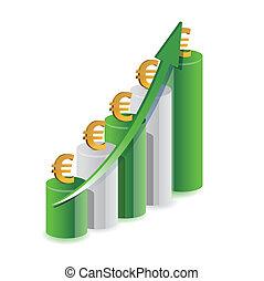 graphique, conception, illustration, euro