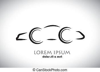 graphique, couleur, voiture, résumé, gris, Symbole, fond, vecteur, noir, blanc, signe, ou, icône