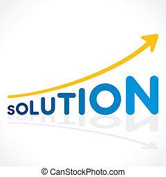 graphique, créatif, conception, solution, mot