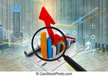 graphique, croissance, business
