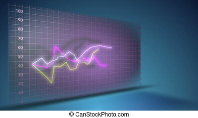 graphique, croissance, financier, business, données