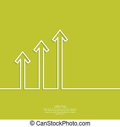 graphique, croissance, spectacles