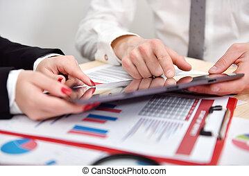 graphique, croissance, tablette,  Business