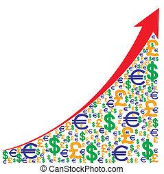 graphique, croissance, taux