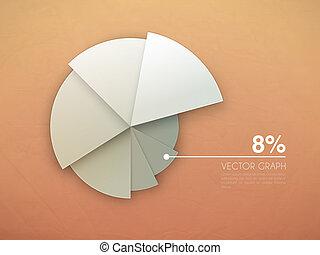 graphique, diagram., vecteur, graphique circulaire