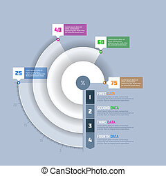graphique, diagramme, infographi, cercle, tarte
