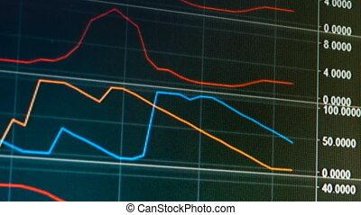 graphique, diagramme, monnaie, vivant, commerce, internet