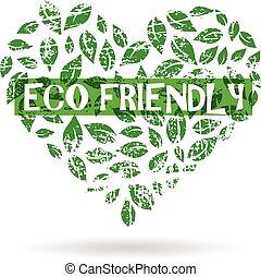 graphique, eco, vecteur, conception, logo., amical