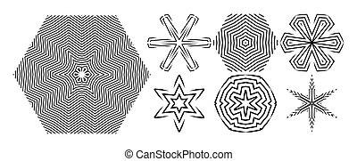 graphique, elements., modèle, -, vecteur, conception, géométrique, pattern., mode, hexagonal, éléments, design.