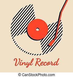 graphique, enregistrement, vecteur, musique, vinyle, fond, ligne