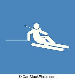 graphique, figure, symbole, illustration, vecteur, ski, sport