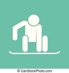 graphique, figure, symbole, illustration, vecteur, snowboarding, sport