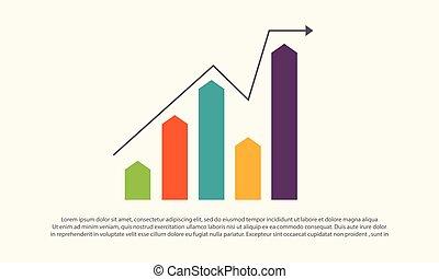 graphique, financier, conception, diagramme, business